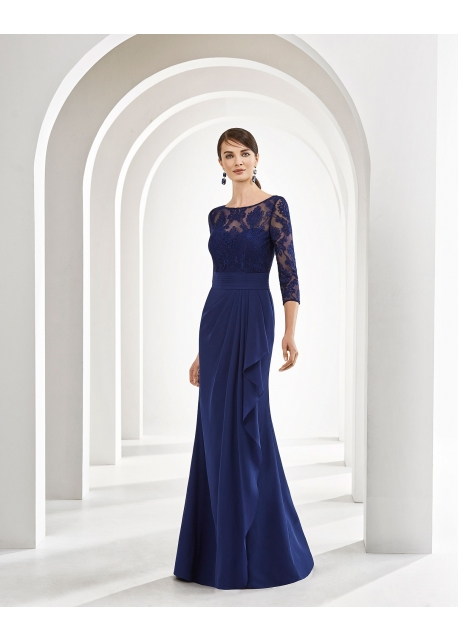 Vestido Marfil Couture Cuerpo Ilusión