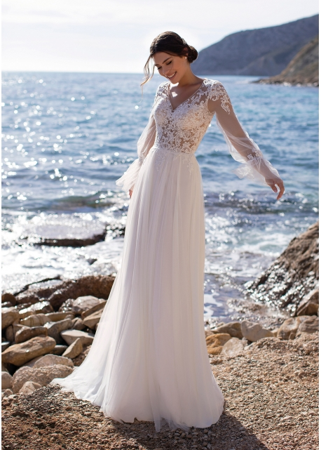 Vestido de Novia Periwinkle White One