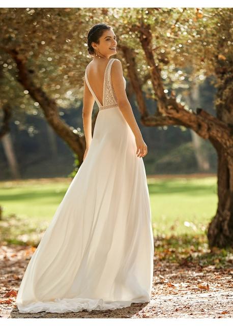 Vestido Asimétrico Jacquard Marfil Couture