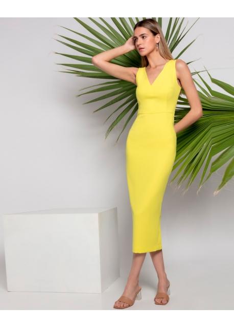 Vestido Gloria Amarillo Matilde Cano